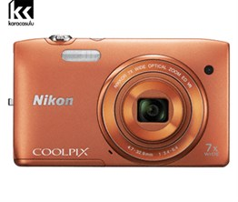NIKON DIGITAL CAMERA S3500 (ORANGE) - OUTLET