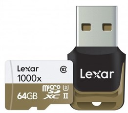 Lexar 64GB microSDXC UHS-II 1000x with Reader (Class 10) U3